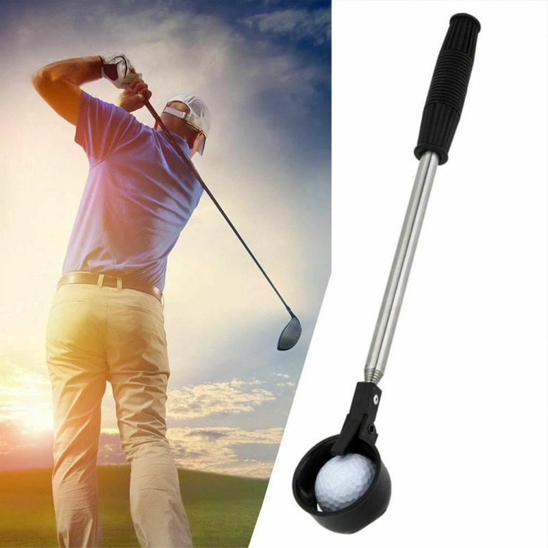 1 Pcs 2m Golf Ball Retriever Device Golf Equipment Automatically Portable Handle Mental Pick Up Ball Retriever Golf Accessories