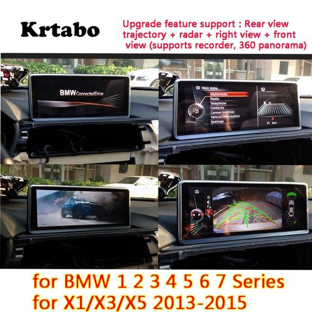 For BMW X1/X3/X5 2013~2015 Original screen HD reversing image driving recorder rear view camera+Rear view trajectory + radar