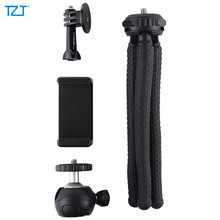 TZT Small/Large Flexible Octopus Tripod Camera Tripod with Ball Head + Phone Clamp + Base For GoPro PKT3041(China)