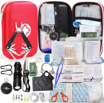 80 in 1 Outdoor survival Frist aid kit Set Camping Equipment Travel Multifunction SOS EDC Emergency Supplies Tactical for Hunt 1