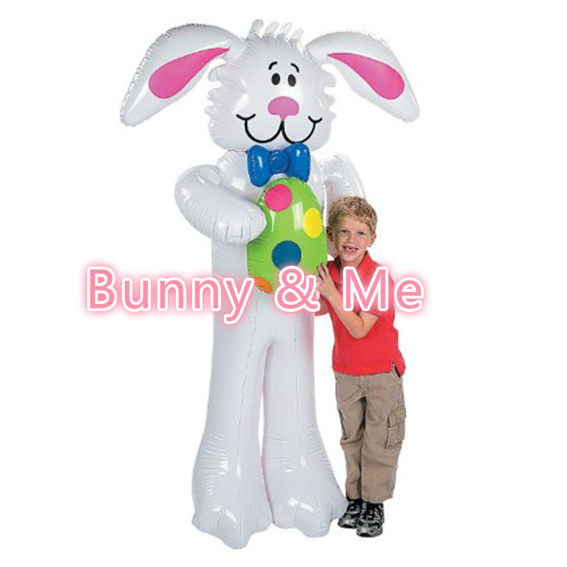 160 CM Gaint Cartoon Inflatable White Rabbit Toys For Kids Easter Party Decoration  Balloon Toys Stage Props Lovely Shape