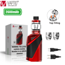 Original Vape Kit Built in Battery 2600mah Box Mod Vaptio Ironclad E Cigarette Starter 50W Vaporizer 6.0ml Tank Atomizer