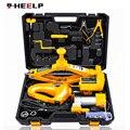 E-HEELP Автомобильный Электрический подъемник подъемный комплект 12V 3 в 1 встроенный флэш-светодиодный светильник с ударный гайковерт и воздуш...