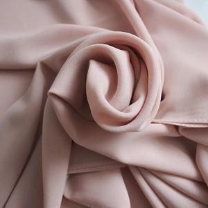 Image 5 - PLAIN Bubble Chiffon Hijab ผ้าคลุมไหล่ผ้าพันคอผ้าพันคอผ้าพันคอผู้หญิงสีทึบยาว Shawls และ Wraps มุสลิม Hijabs ผ้าพันคอผู้หญิง Foulard Femme