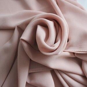 Image 5 - Vlakte Bubble Chiffon Hijab Sjaal Hoofd Sjaal Vrouwen Effen Kleur Lange Sjaals En Wraps Moslim Hijaabs Sjaals Dames Foulard Femme