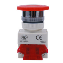 1 Pcs LHLL- Red Mushroom Cap 1NO 1NC DPST Emergency Stop Push Button Switch AC 660V 10A  Elevator Latching Self Lock
