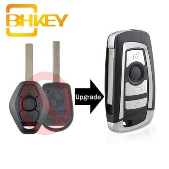 BHKEY for BMW Key HU92 Blade 433/315Mhz Car Remote Key for BMW EWS 325 330 318 525 530 540 E38 E39 E46 M5 X3 X5 7935 Chip stenzhorn 433mhz remote key fob 3button for bmw ews x3 x5 z3 z4 1 3 5 7 series 2002 2003 2004 2005 with hu92 blade without chip