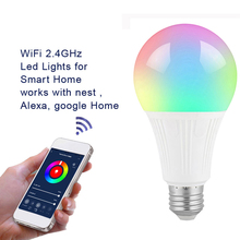 New Wireless Bluetooth Smart Bulb home Lighting lamp 10W E27 E14 Magic RGB +W LED Change Color Light Bulb Dimmable With Remote