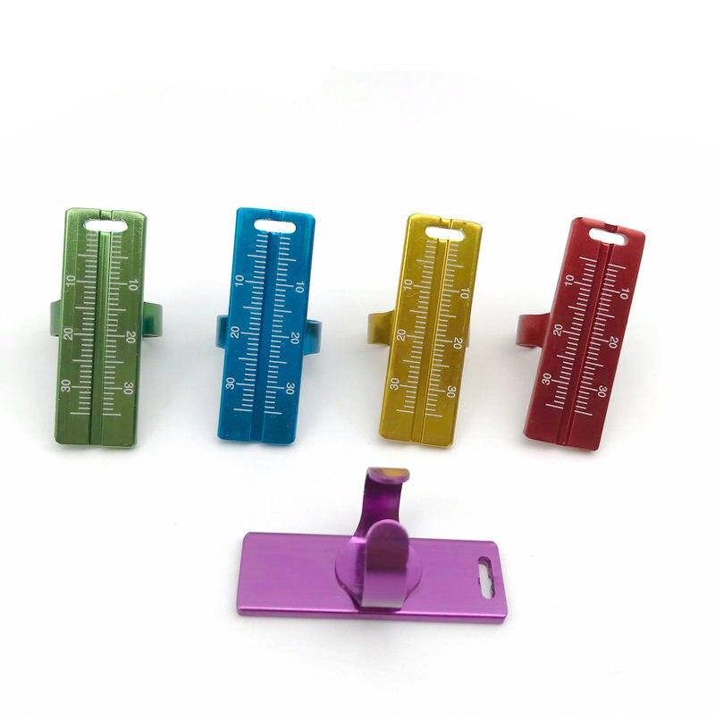 1pc Dental Endo Finger Ruler Aluminium 30mm Gauge Span Measure Scale Measurement Tool