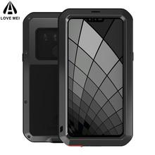 Kılıfları LG G7 G8S thinQ lüks Doom zırh görev su geçirmez darbeye dayanıklı Metal alüminyum telefon kapak için LG G6 ThinQ üç kameralar