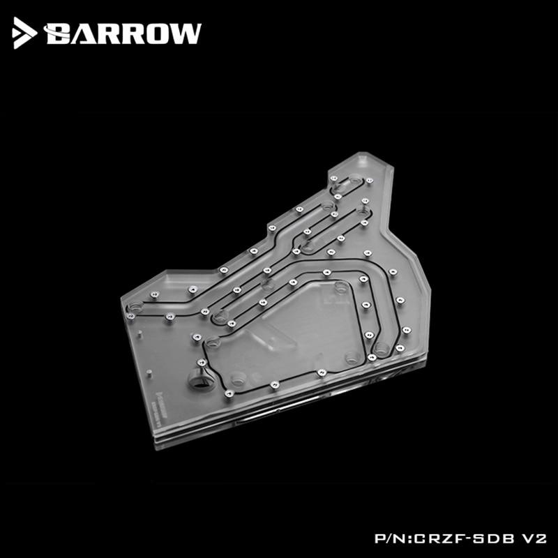 Купить с кэшбэком Barrow Acrylic Board as Water Channel use for Cooler COUGAR Conqueror Computer Case use Both CPU and GPU Block RGB Light to AURA