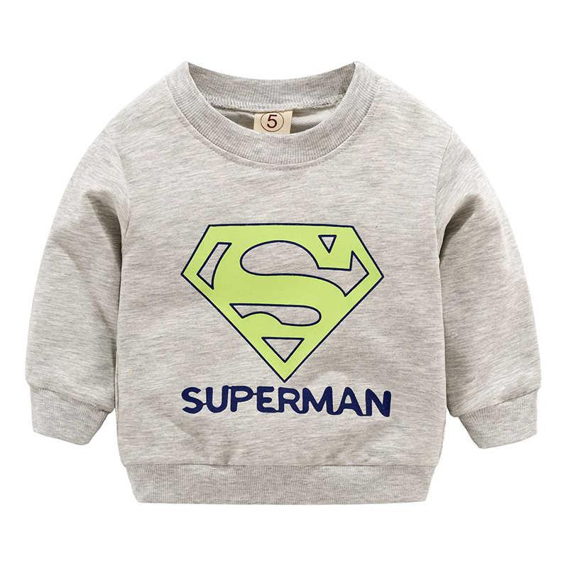 새 아기 소년 소녀 스웨터 가을 봄 만화 면화 후드 탑 어린이 키즈 긴 소매 티셔츠 블라우스 옷