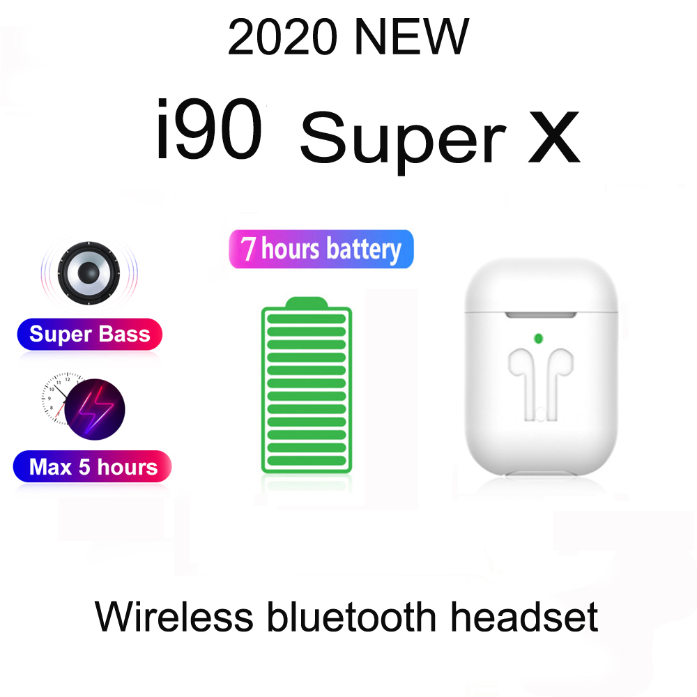 2020 new i90 <font><b>Super</b></font> X wireless Bluetooth headset for Apple, Android, Samsung, Xiaomi, Huawei PK i7 V8 i9 i11 i12 i14 <font><b>tws</b></font> i18 <font><b>i30</b></font> image