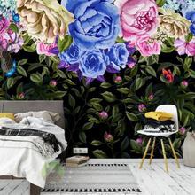 modern Custom mural wallpaper 3d Vintage colored roses