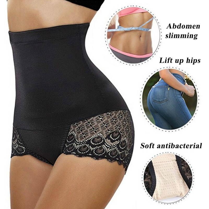CXZD Plus Size Sexy Women's Shaper Underwear Booty Lifter Ladies' Cotton Slim Control Body Shaper Waist Trainer Briefs Tummy (9)