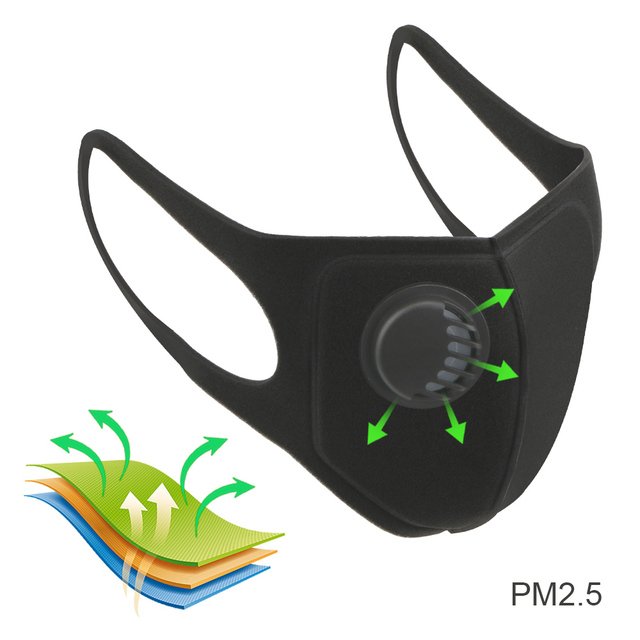 FORAUTO Sport Face Mask With Activated Carbon Pm 2.5 Anti-pollution Running Cycling Mask Motocycle Sponge Masks Reusable 1