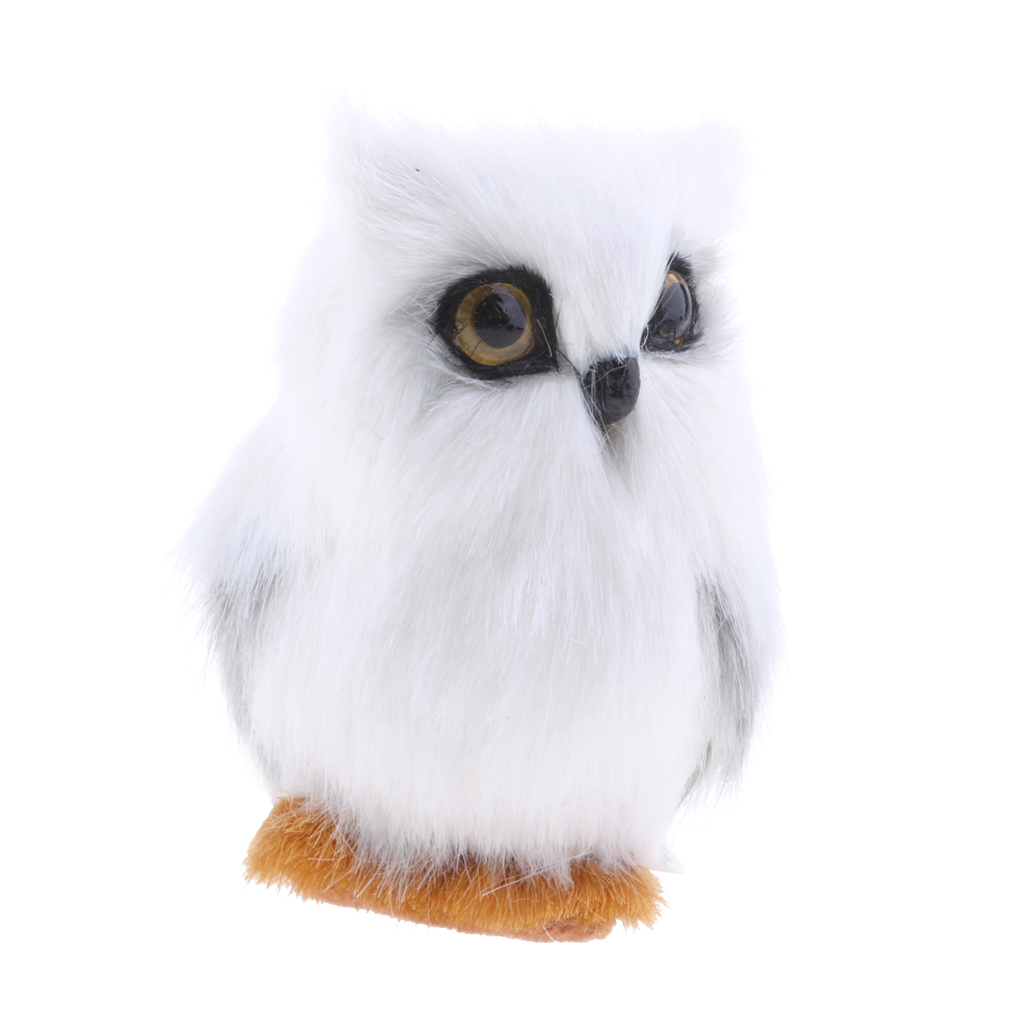 3pcs Vivid Realistic Lifelike Mini Artificial Owl Decoration Toy Gift