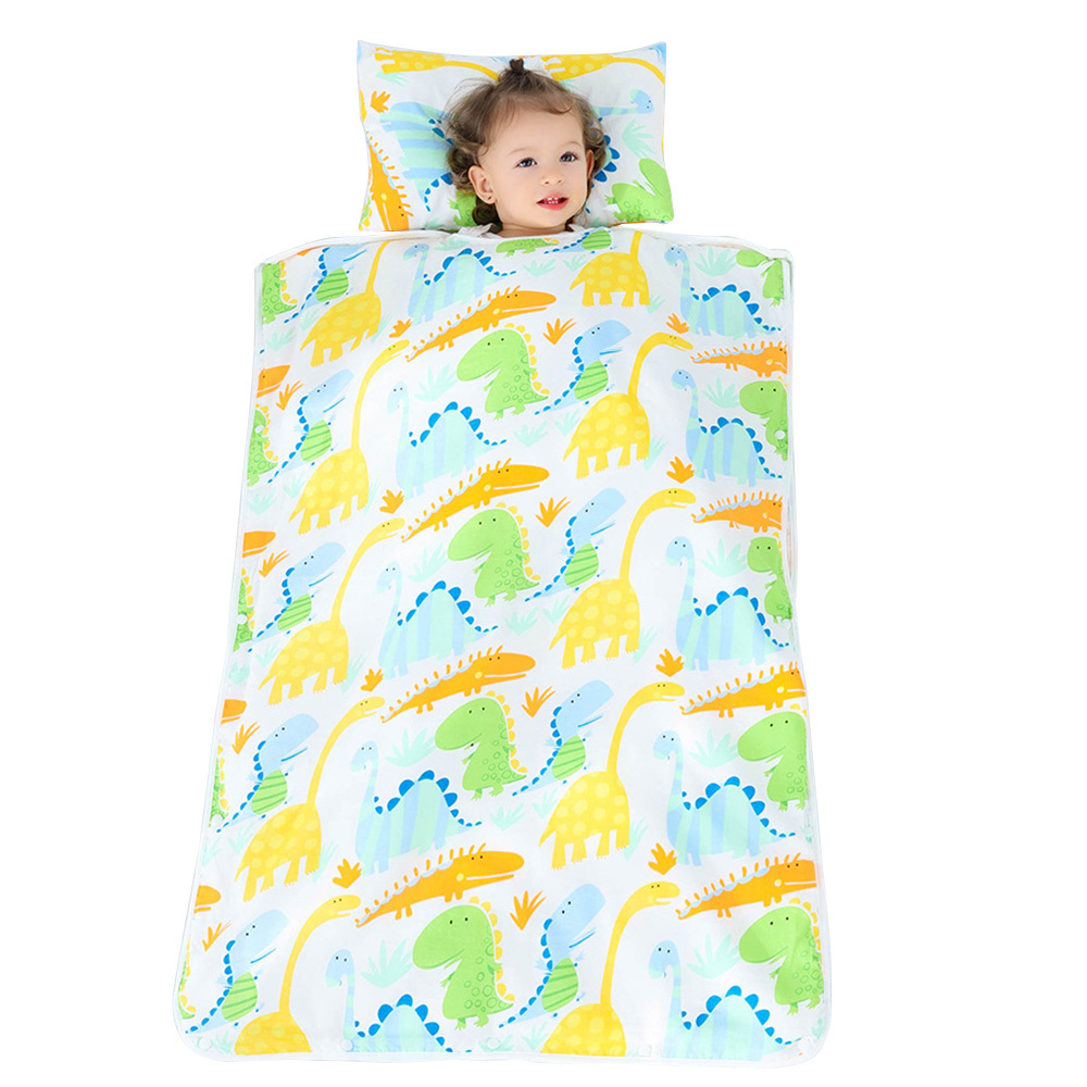 Kids Nap Mat With Removable Pillow Toddler Nap Pad For Preschool Daycare Kindergarten Children Sleeping Bag