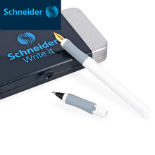 Deutschland Schneider Brunnen Pen F 0,5mm Zwei-weg Unterzeichnung Stift Gel Stift Metall Harz Stift Luxus Studenten Büro tinte Stift BK600 Geschenk Box(China)