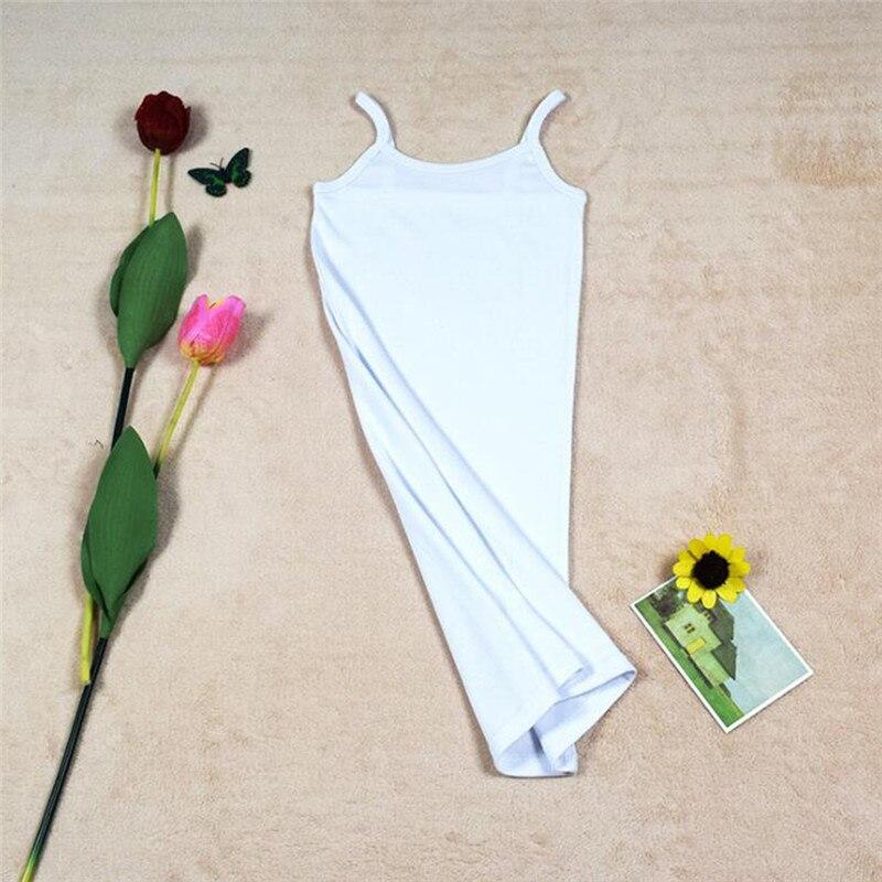 Новинка, Женская эластичная кофточка на бретельках, Длинный топ на бретелях, Мини Короткое платье, летнее повседневное сексуальное платье без рукавов для женщин - Цвет: A-White