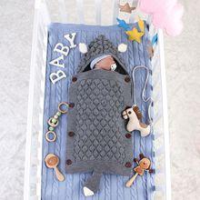 все цены на Newborn Baby Wrap Swaddle Blanket Knit Sleeping Bag Stroller Wrap for Baby Swaddle Blanket baby quilt baby stuff  0-12 Month
