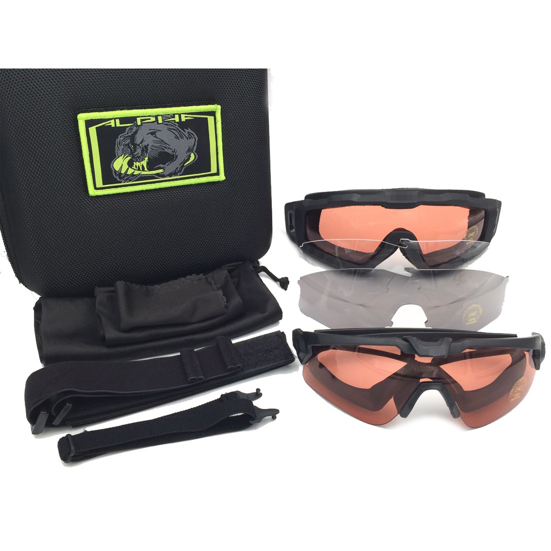 Alpha Army Fans O Standard Explosion-Proof Eye-protection Goggles Tactical Goggles Shooting Glasses Dustproof Wind-Resistant Eye