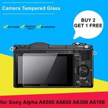 2PCS A6400 מצלמה זכוכית עבור Sony Alpha A6500 A6600 A6300 A6100 9H קשיות מזג זכוכית Ultra דק מסך מגן סרט