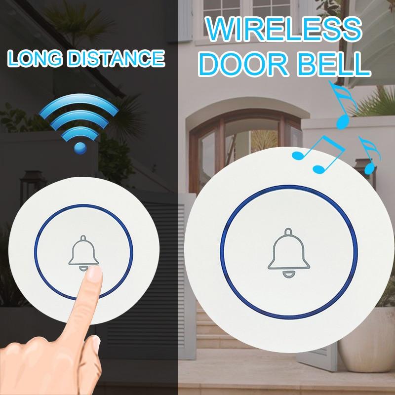 Wireless Doorbell Button Emergency Call Button Paste Type Wireless Smart WIFI Doorbell Wireless Button Alarm AccessoriesWireless