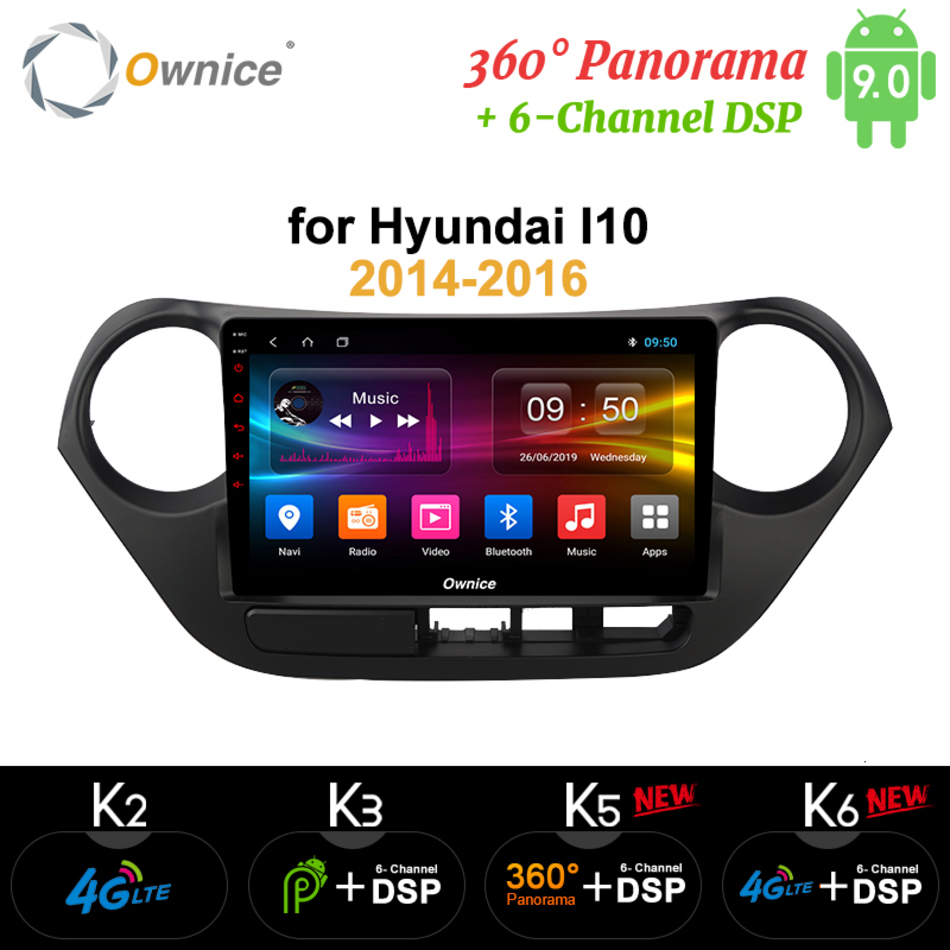 Ownice K6 K5 K3 IPS 9 Inch Android 9.0 Car <font><b>Gps</b></font> Navigation Radio Multimedia Player For <font><b>Hyundai</b></font> 2014 2015 2016 <font><b>Grand</b></font> <font><b>I10</b></font> Rhd Lhd image