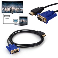 Adaptador de cabo conversor 1080 p hd mi vga HD-15  macho 15pin  5ft 1.8 m hd  divisor interruptor para pc hdtv monitor de monitor