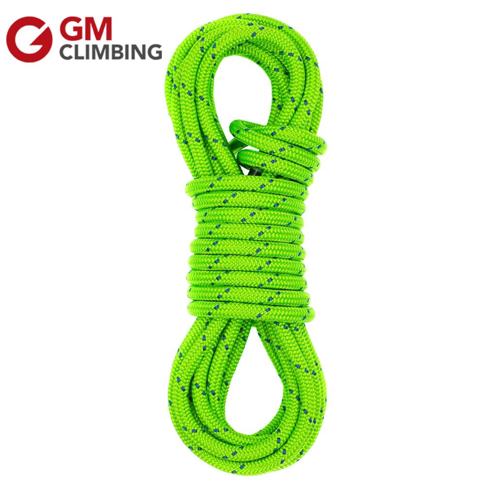 GM CLIMBING Rope 6mm Double Braid Polyester Rock / Tree Climbing Rope Equipment CE Safety Rescue Survival Hiking Caving