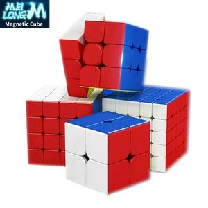 Moyu MeiLong 2M 3M 4M 5M Magnetic neo cube Cubing Classroom 2x2x2 3x3x3 4x4x4 5x5x5 Speed Magic Cube Educationa Puzzles for kids