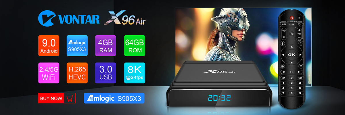 gb ddr4 amlogic s905x3 caixa de tv