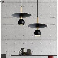 Nordycki styl postmodernistyczny czarne złoto wisiorek led światła proste lampy projektant nocny Bar restauracja dekoracje do wnętrz do sypialni latarnie w Wiszące lampki od Lampy i oświetlenie na