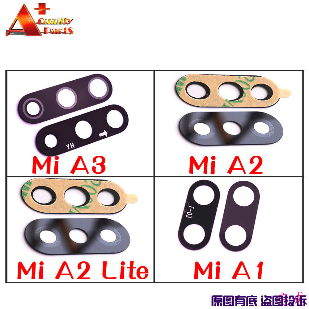 Originele Back Rear Camera Lens Glas Vervanging Cover Voor Xiaomi Mi A3 A1 A2 Lite