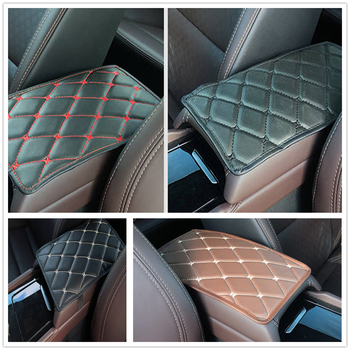 Car Armrest Mat Storage Box Arm rest Pad Cushion Pad for Toyota FJ Cruiser RAV4 CROWN REIZ PRIUS COROLLA VIOS LAND CRUISER PRADO image