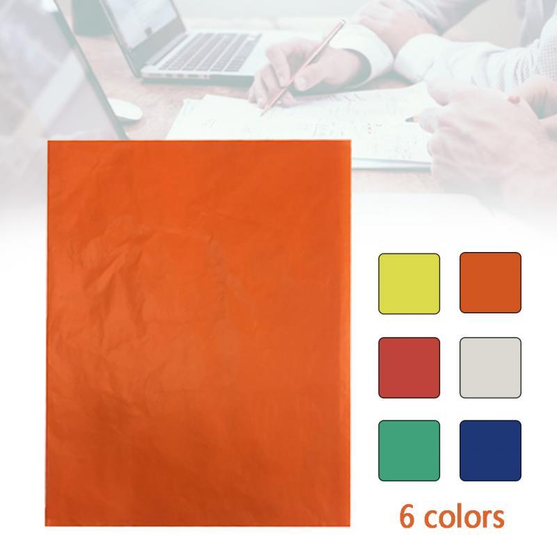 100 adet renkli A4 kopya karbon kağıtları ev ofis boyama aydınger kağıdı bir tarafı kumaş çizim Transfer 21 × 29.7CM