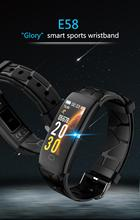 EHUNT New Arrival Smart Watch E58 With Blood Pressure Heart Rate Bracelet