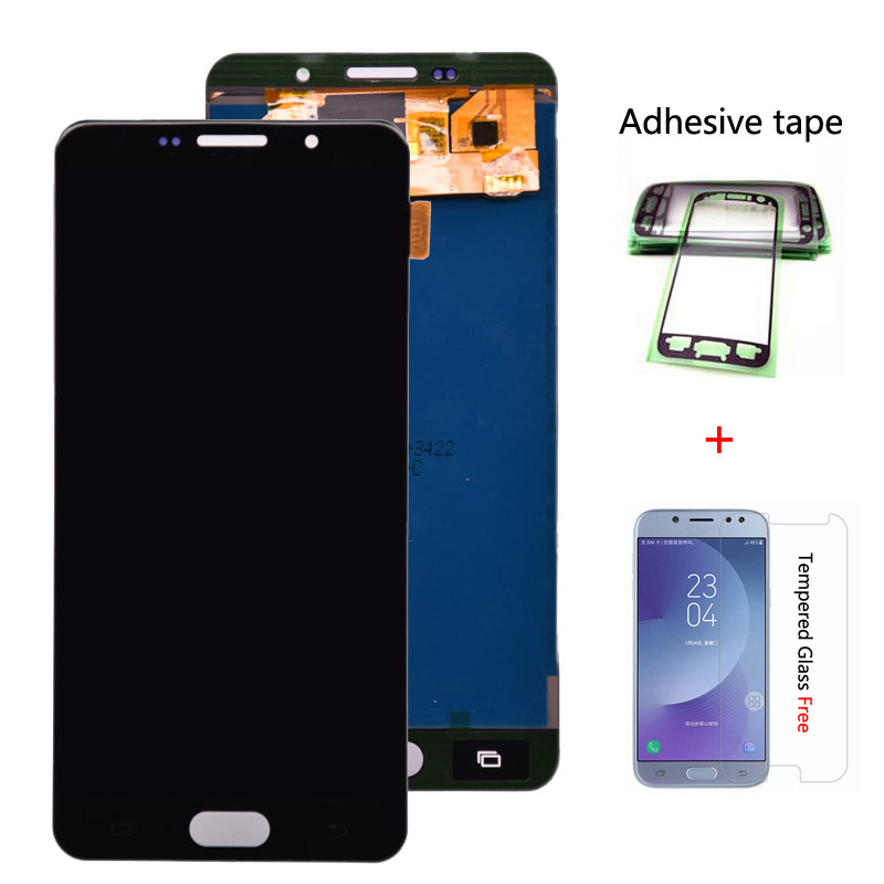 For Samsung Galaxy A7 2016 A710 A710F LCD Display Touch Screen Digitizer Assembly LCD For Galaxy A7 2016 Duos A7100 TFT Lcd