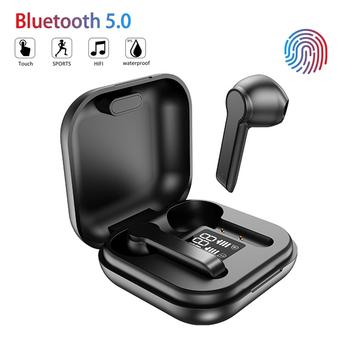 Słuchawki bezprzewodowe TWS słuchawki Bluetooth 5 0 IPX5 wodoodporne słuchawki douszne z mikrofonem Sport uszny dla iPhone Xiaomi Android tanie i dobre opinie Juessen Zaczepiane na uchu Dynamiczny CN (pochodzenie) wireless 108dB Do gier wideo do telefonu komórkowego Słuchawki HiFi