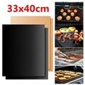 Коврик для гриля и барбекю 2 шт., не прилипающий коврик для выпечки на открытом воздухе, многоразовая тарелка для приготовления пищи, 40*33 см, д...