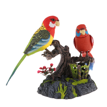 Sound Voice Activated Talking Parrots Dancing Chirping Birds with Pen Holder and Realistic Sounds and Movements