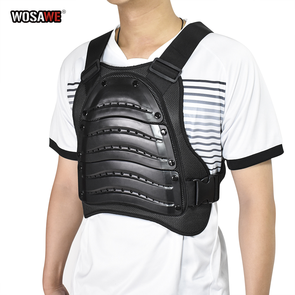 WOSAWE Motorcycle Armor Jacket Motocross Body Protector GHOST RACING Riding Moto Protective Guard Armor Chest Back Protection