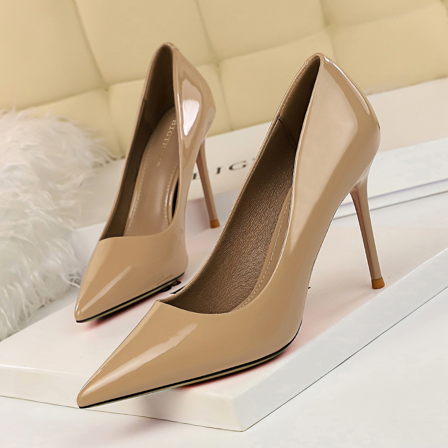 2020 New Spring Women Pumps 9.5cm High Thin Heel Pointed Toe Shallow Sexy Office Ladies Women Shoes Red Female High Heels Pumps