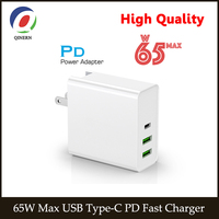 65W 45W 20V 3.25A Carregador USB Tipo C C PD Rápida QC 3.0 Laptop Adaptador de Energia para Macbook Pro  Asus  lenovo thinkpad  HP  DELL XPS |Adaptador para laptop|Computador e Escritório -