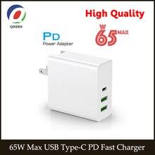 65W 45W 20V 3.25A USB tip C PD hızlı şarj QC 3.0 güç Laptop adaptörü için ipad iphone12 max Macbook Pro, asus, lenovo,HP, DELL