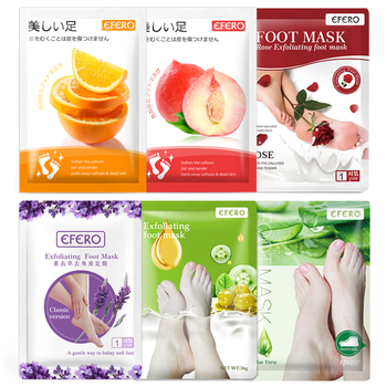 EFERO 6Packs Foot Peeling Mask Exfoliation for Feet Mask Dead Skin Remover Foot Spa Socks for Pedicure Socks Whitening Foot Mask efero exfoliation for feet mask remove dead skin heels foot peeling mask for leg exfoliating foot mask pedicure socks foot patch