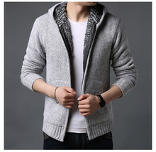 2020 Men's cashmere jackets spring Winter jacket coat men Streetwear Hooded mens coats knitted Sweater M-3XL
