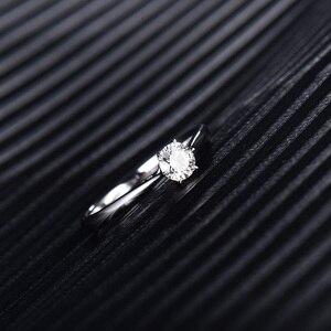 Image 4 - LOVERJEWELRY 14Kt Moissanite Rings Women Round Cut Natural Moissanite Lab Grown Diamond In White Gold For Female Engagement Gift