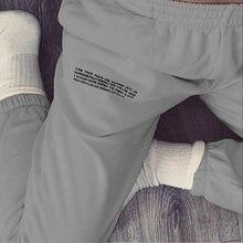 WannaThis – pantalon de survêtement ample en coton avec lettres imprimées, Baggy, Streetwear décontracté, couleur unie, automne 2020